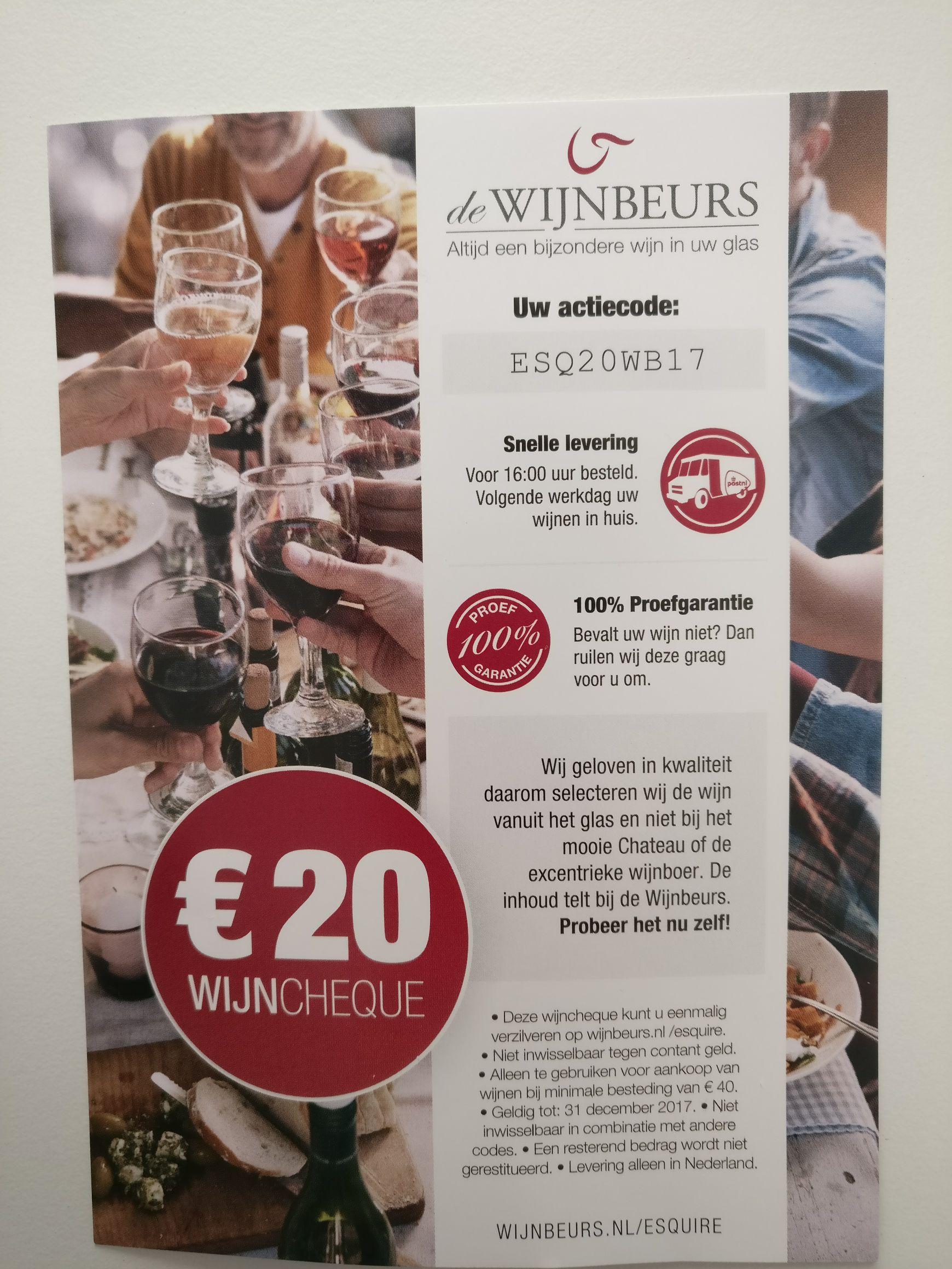 €20 korting (vanaf €40) @ Wijnbeurs