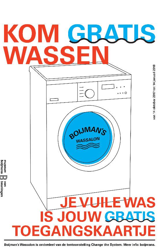 Gratis je was wassen en gratis toegang tot museum @ Boijmans van Beuningen