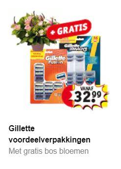 Gillette scheermesjes va €20 korting + gratis bloemenbon voucher t.w.v. €17,50 @ Kruidvat