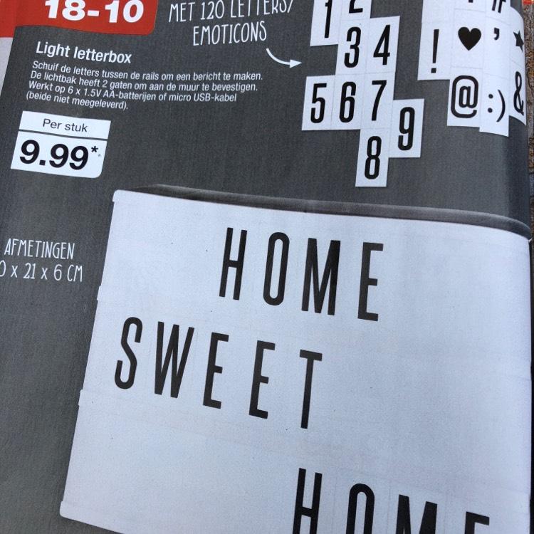 Light letterbox €9.99 vanaf 18-10 Aldi