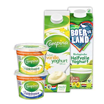 Gratis Campina kom bij aankoop van 2 producten!