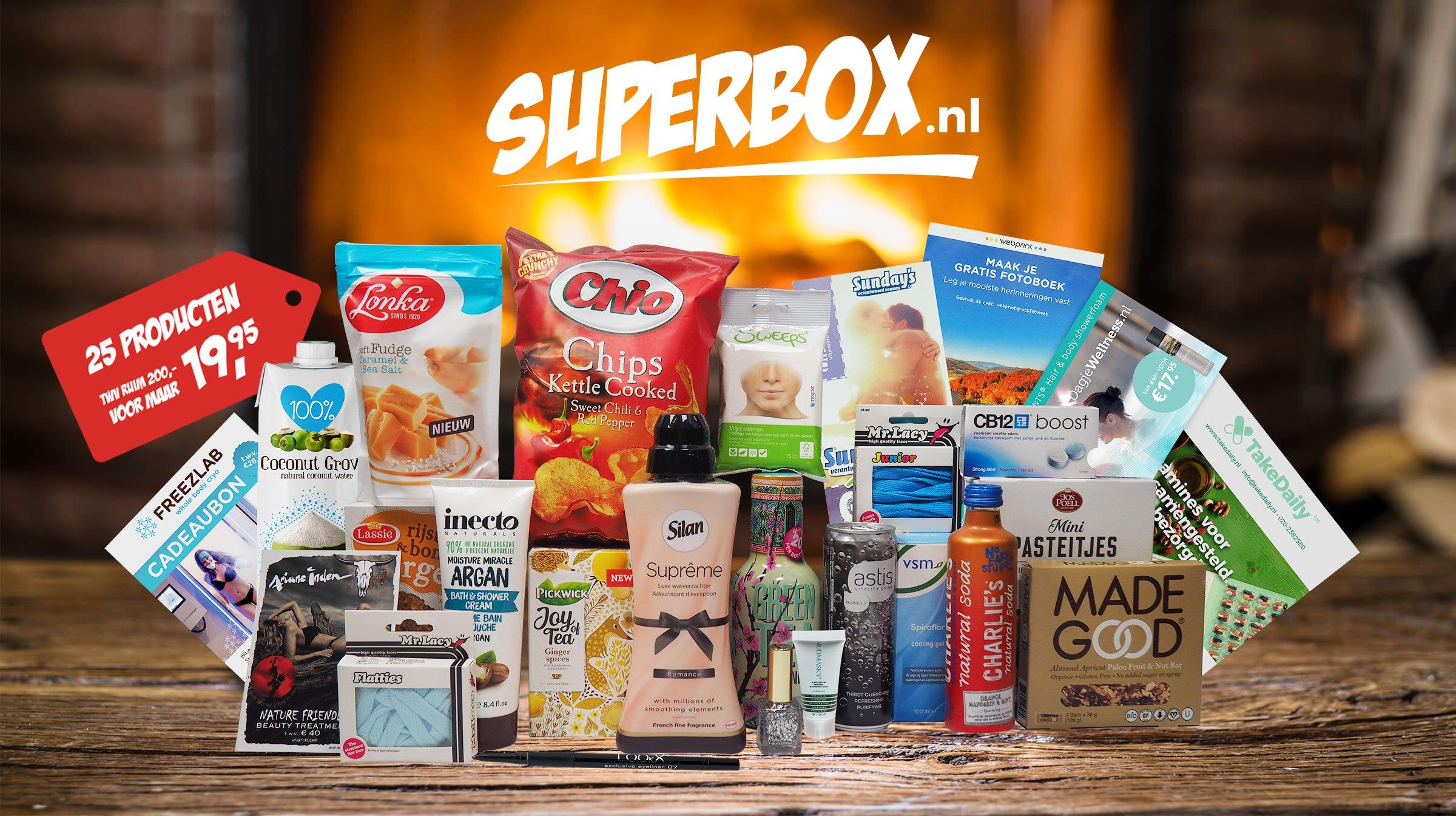 Boodschappenbox met inhoud t.w.v. €200+ voor €19,95 @ Superbox