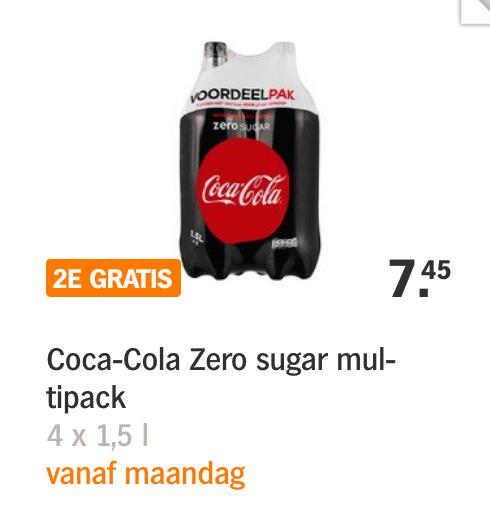 AH Hamsterweek 2 oa Coca Cola Zero 1+1 gratis
