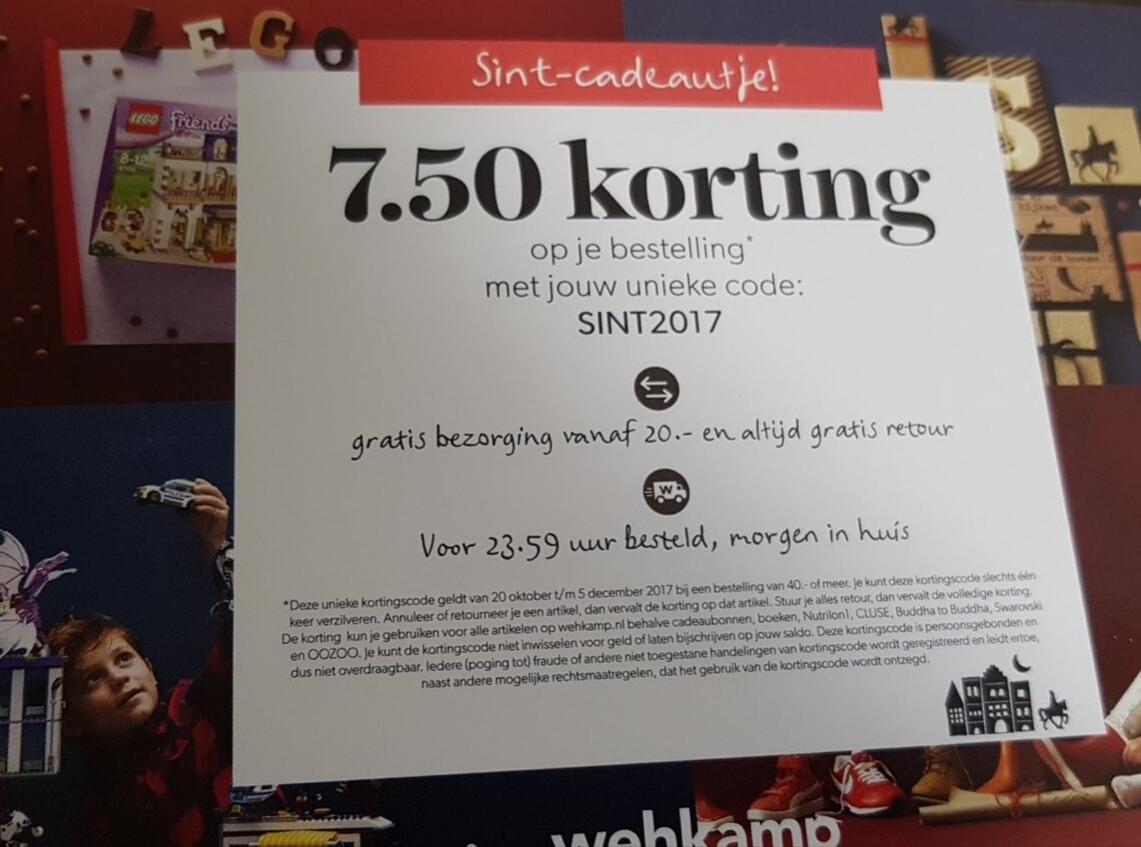 €7,50 korting door andere kortingscode (€20 korting mogelijk) @ Wehkamp