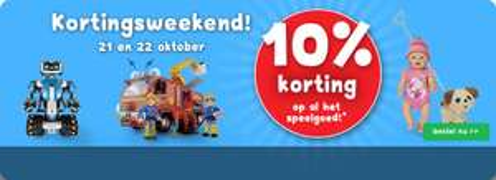 Bartsmit 10% korting op alle speelgoed ( 21 en 22 oktober)