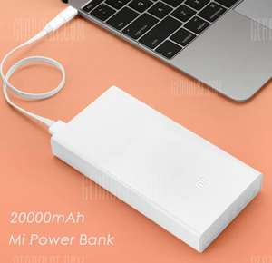 Xiaomi Mi 20000mAh Mobile Power Bank Quick Charging voor €19,55 @ GearBest