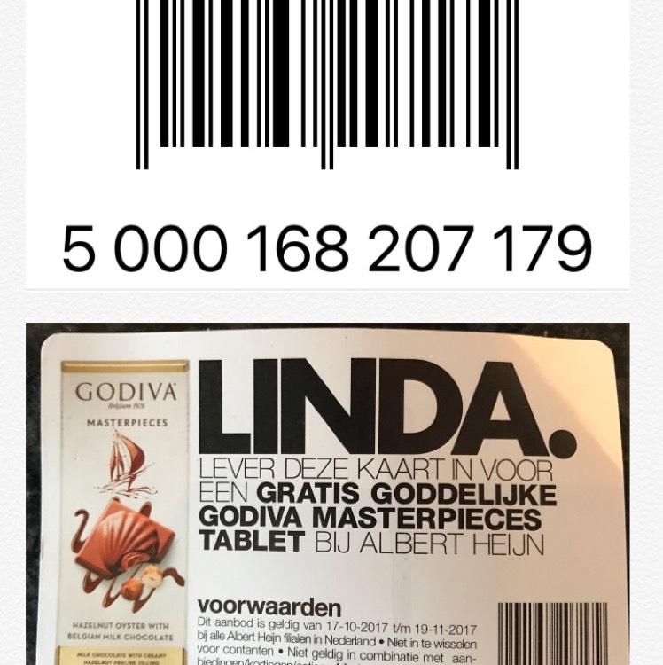 Gratis GoDiva chocolade reep @ Albert Heijn