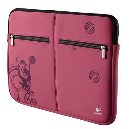 """15,6"""" Logitech Laptop Sleeve (Ook geschikt voor Macbook Pro) - Roze voor €9,95  @ Yorcom   (Normaal €24,95)"""