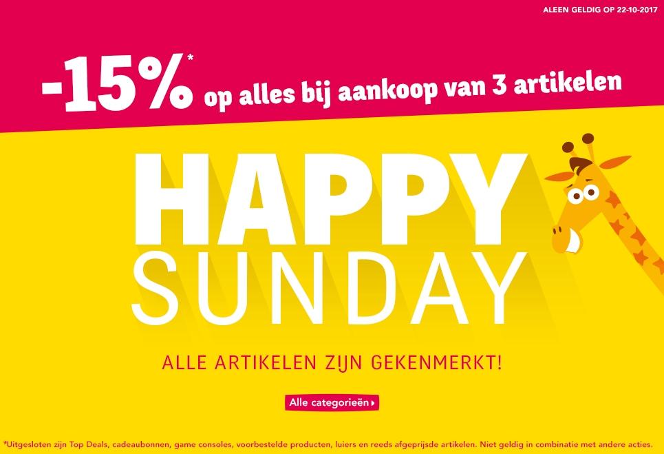 """Happy Sunday 15% korting bij aankoop vanaf 3 artikelen @ Toys""""R""""Us"""