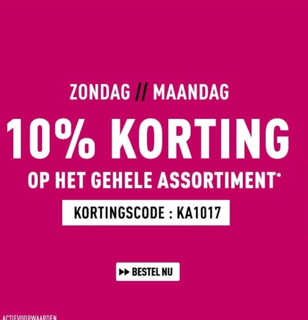 10% korting (gehele assortiment) @ Bax-Shop