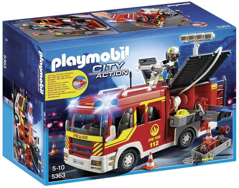 PLAYMOBIL Brandweer pompwagen met licht en sirene (5363) voor €37,50 @ GameSeek