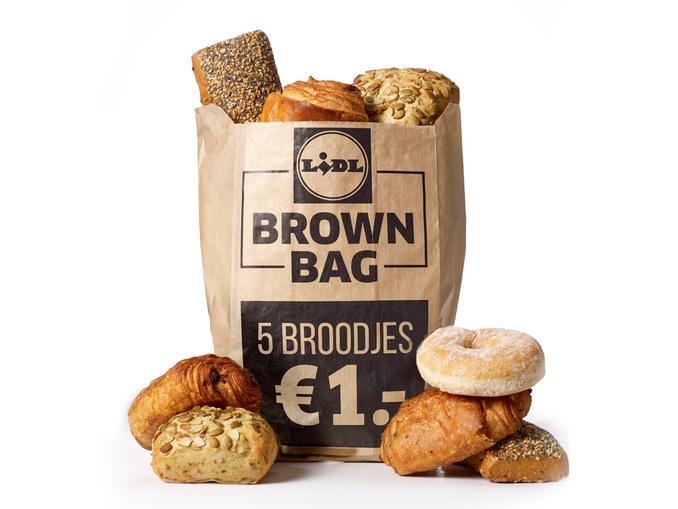 Brown Bag met 5 broodjes voor €1 (23 t/m 29 oktober) @ Lidl