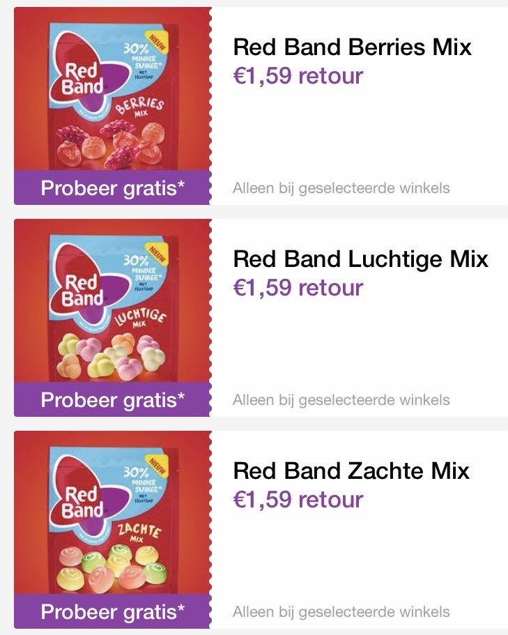 Gratis redband snoepjes t.w.v. € 4,77 @ reclamefolder app