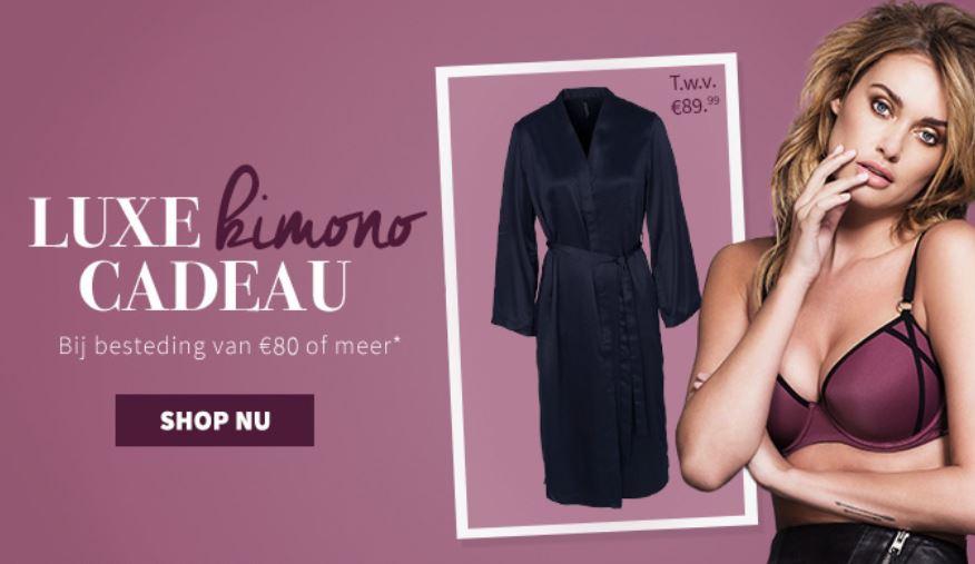 Gratis kimono t.w.v. €89,95 (min €80 besteding) + €5 korting met code @ Sapph