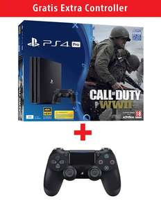 PlayStation 4 Pro 1TB + Call of Duty-WWII + 2x DualShock 4 V2 voor €399 @ Gamemania