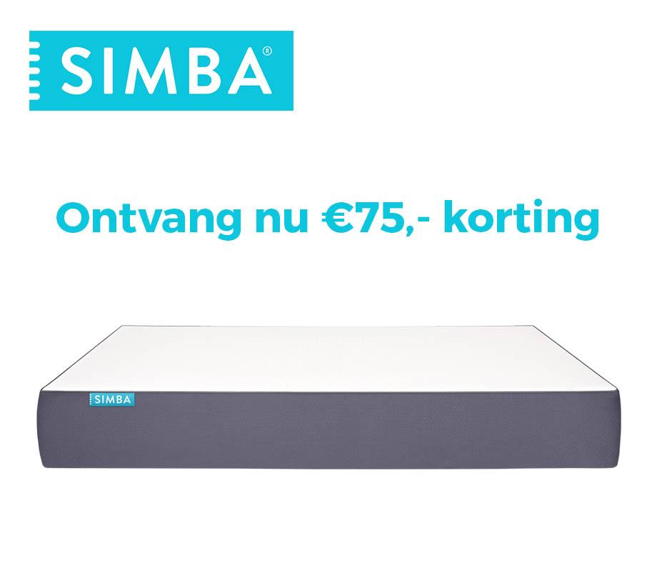 € 75,- korting op matrassen @ Simba