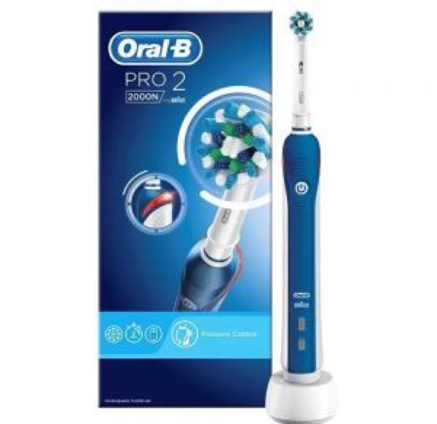 Oral B Pro 2 2000N elektrische tandelborstel (lithium accu!) voor €34 @ Amazon.de