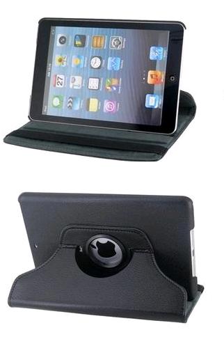 iPad Mini (eerste generatie) Sleeve met 360 graden Rotatie & steun Zwart, Wit & Roze  @  Yorcom
