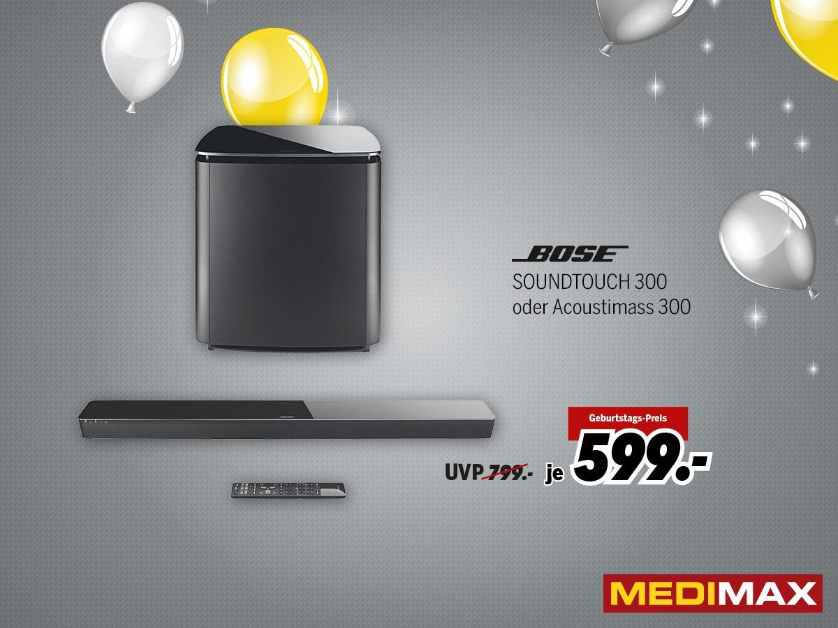 Grensdeal: Bose Soundtouch 300 en Acoustimass 300 voor €599 per product @ Medimax Heinsberg