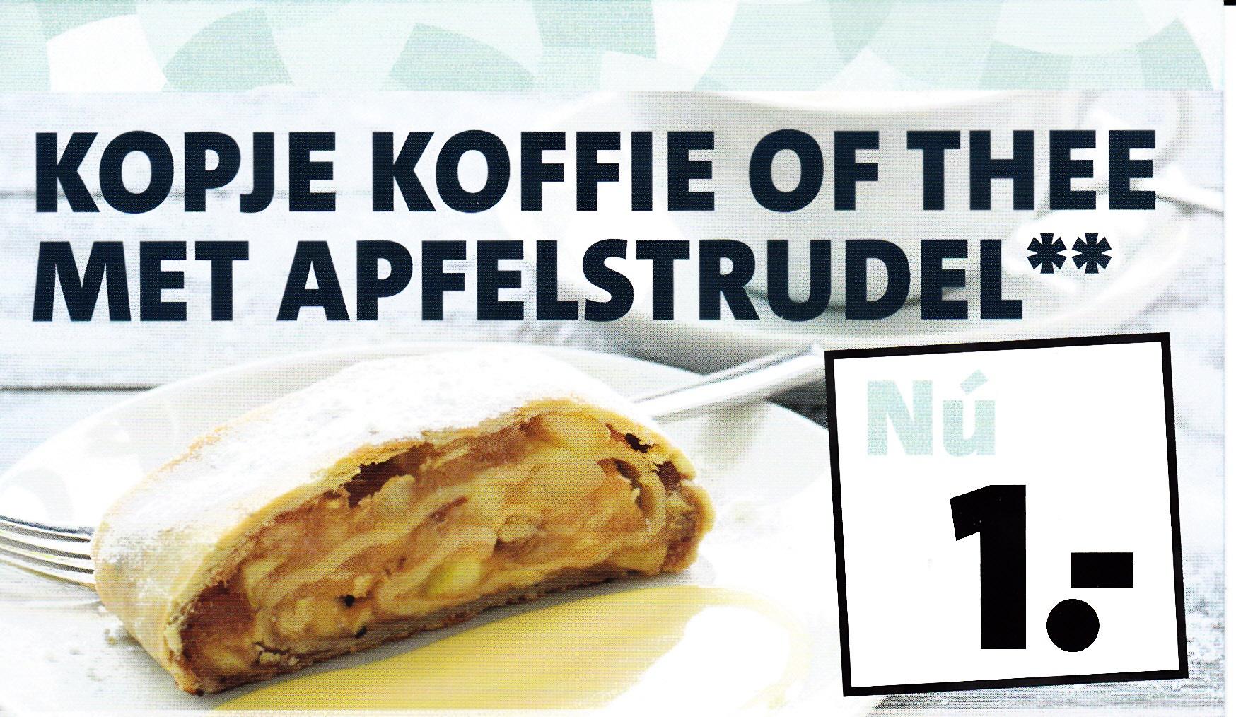 Koffie of thee + appelgebak voor € 1,- @ Intratuin (Almelo, Apeldoorn, Enschede en Lochem)