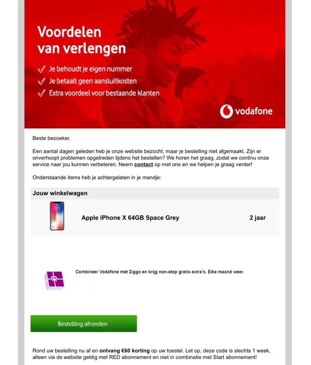 60 euro toestelkorting @ Vodafone