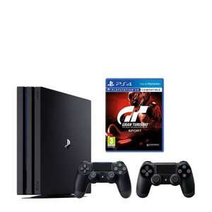 PlayStation 4 Pro 1TB + Gran Turismo Sport + 2 controllers @ Wehkamp