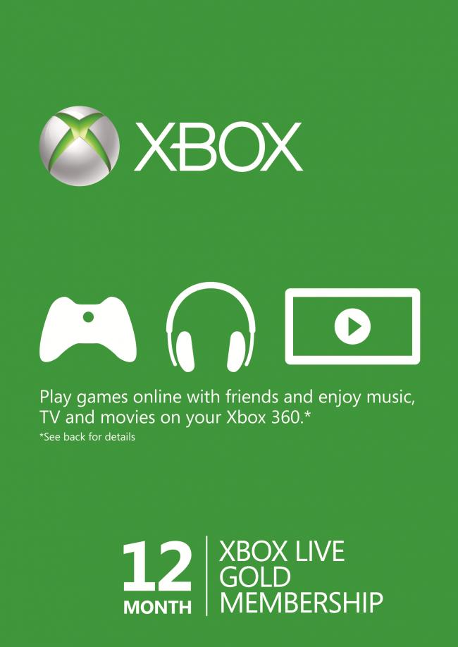 12 maanden Xbox live voor € 36,40