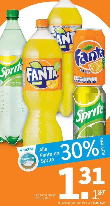 Volle spaarkaart met Fanta aanbieding @ AH