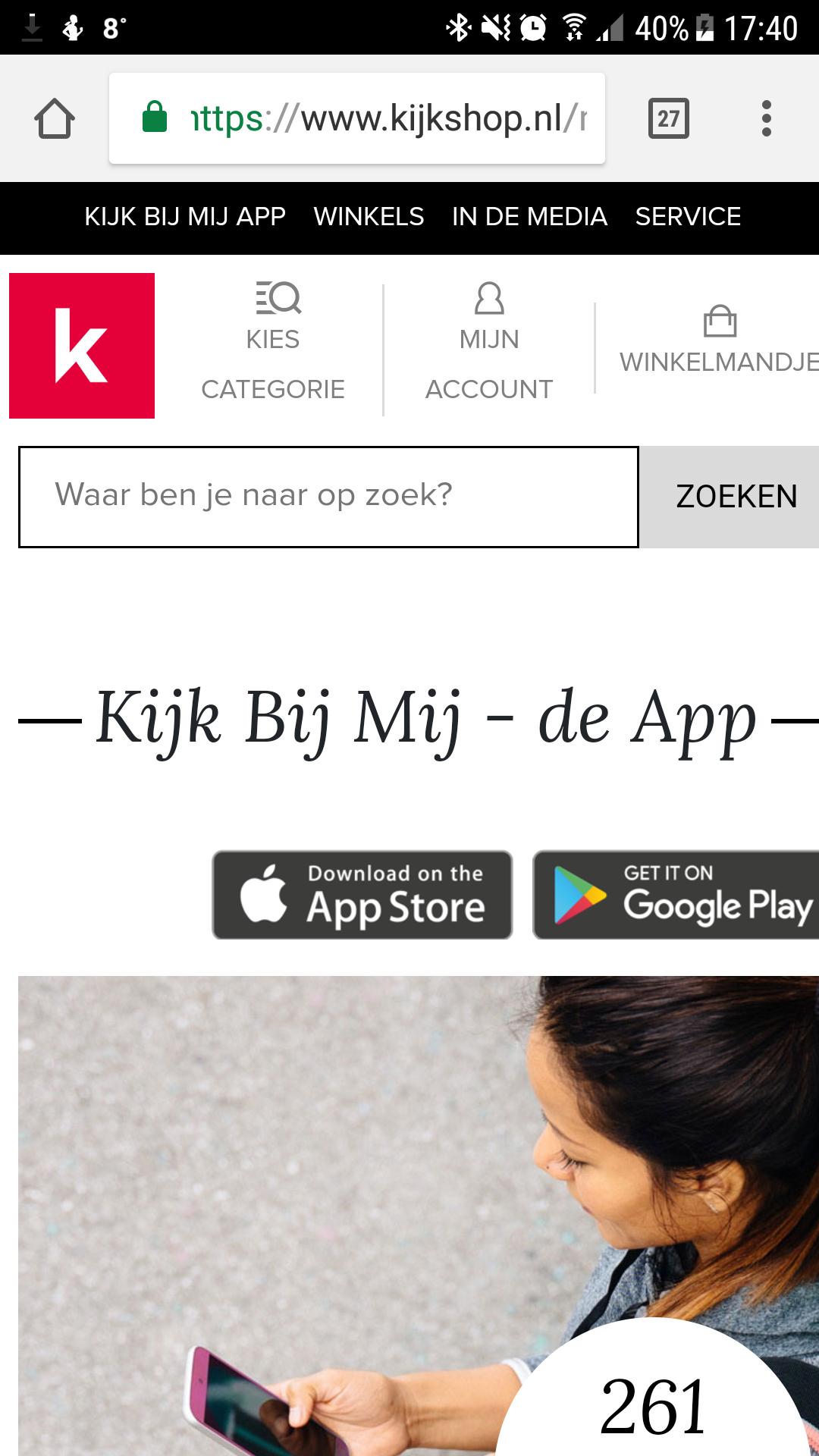 Download de kijk bij mij app voor 5 euro shoptegoed vanaf €50 @ Kijkshop