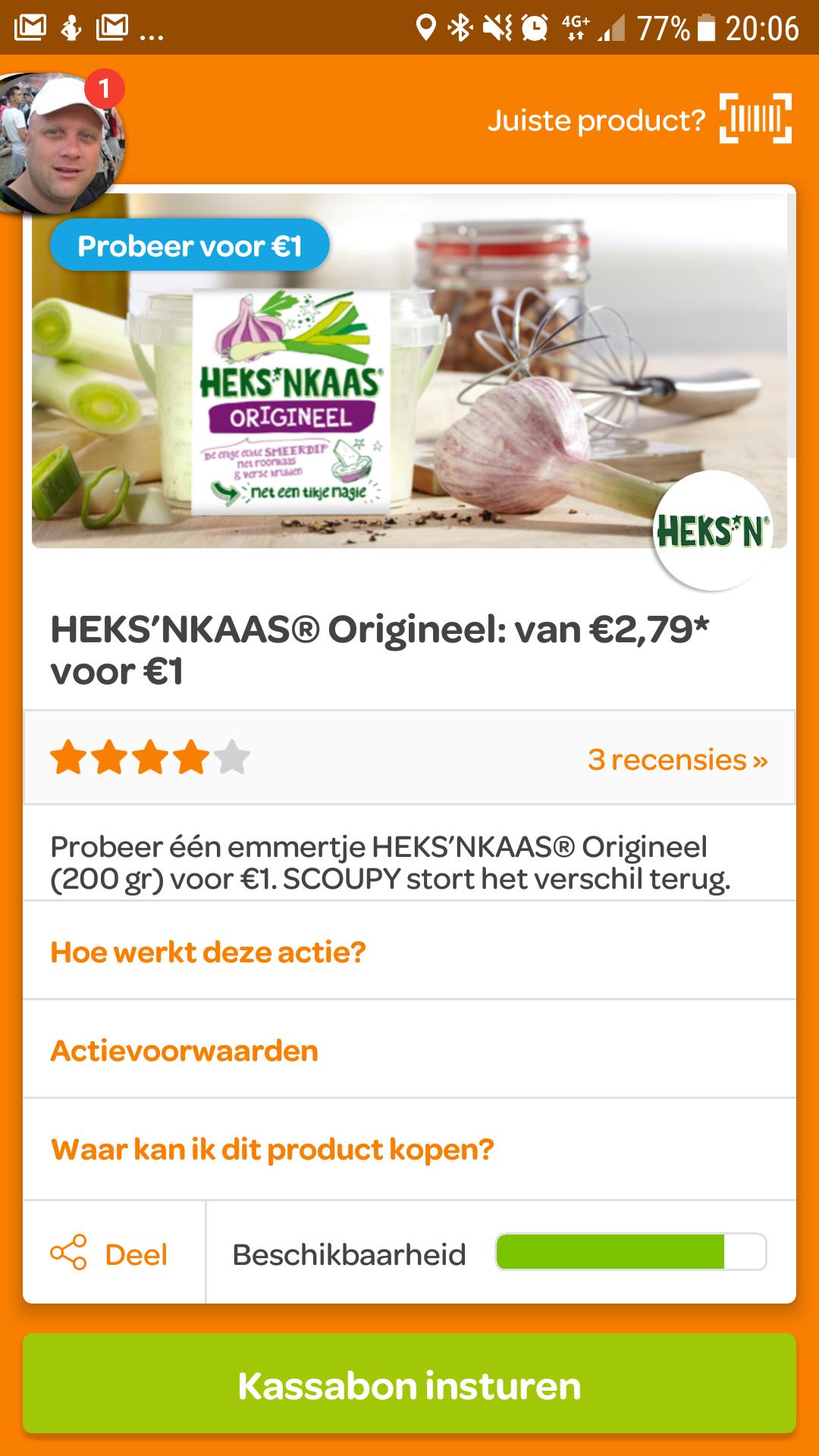 Probeer heksenkaas orgineel van 2.79 voor 1 euro