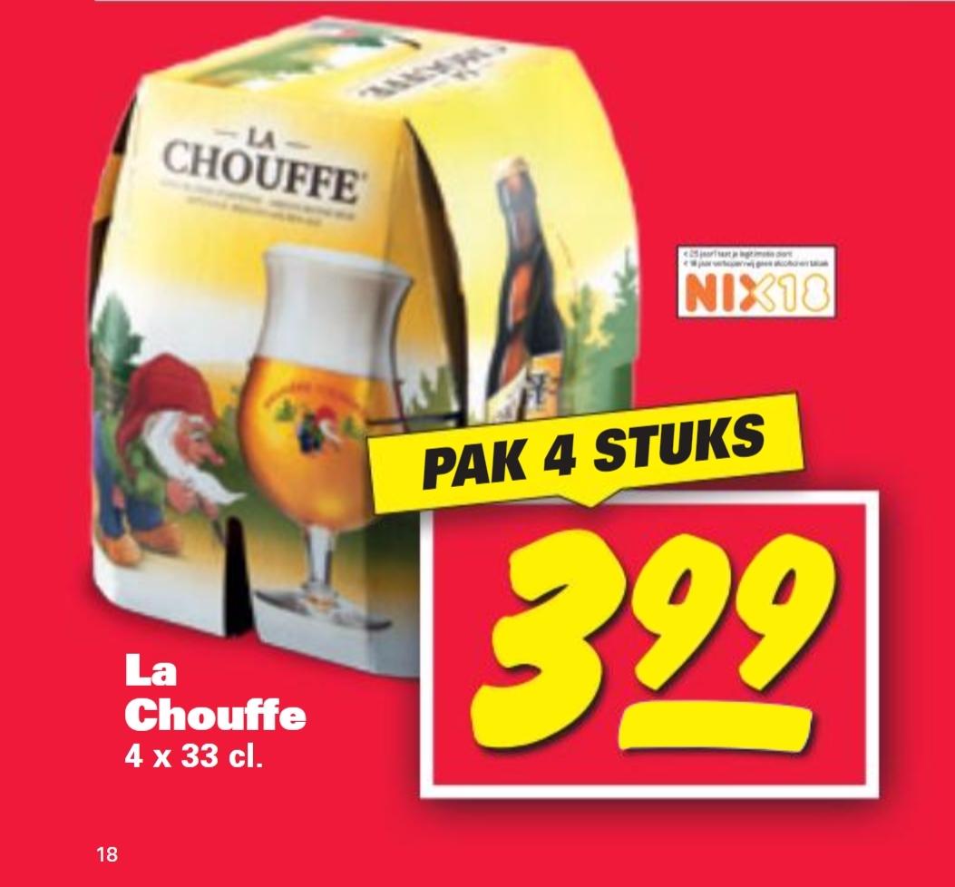 La Chouffe 4-pack voor €3,99 @ Nettorama