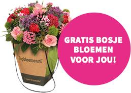 Voucher voor gratis bosje bloemen bij topbloemen.nl @ Engie