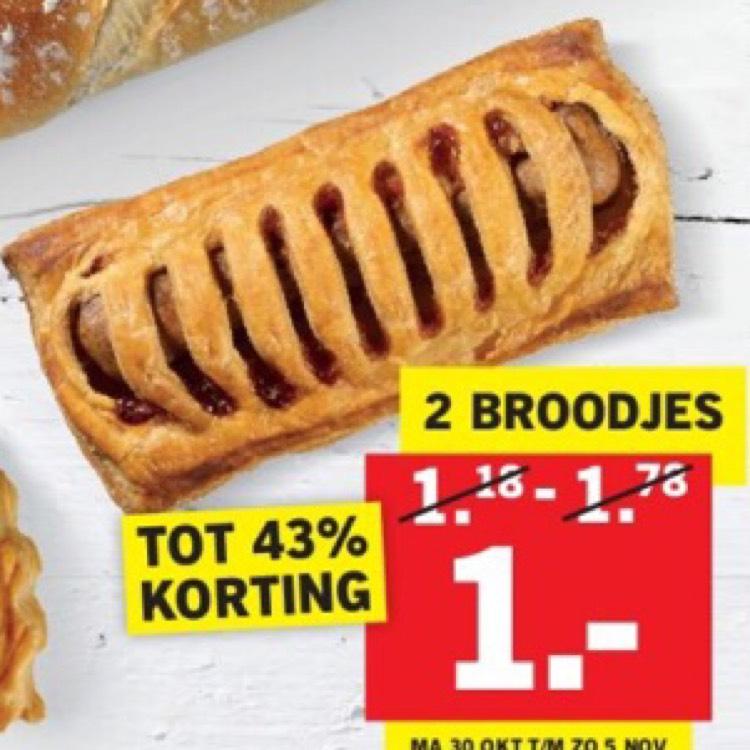 Lidl Luxe broodjes 2 voor €1