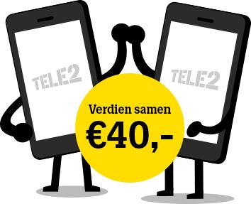 Tot 40 euro ontvangen bij Tele2