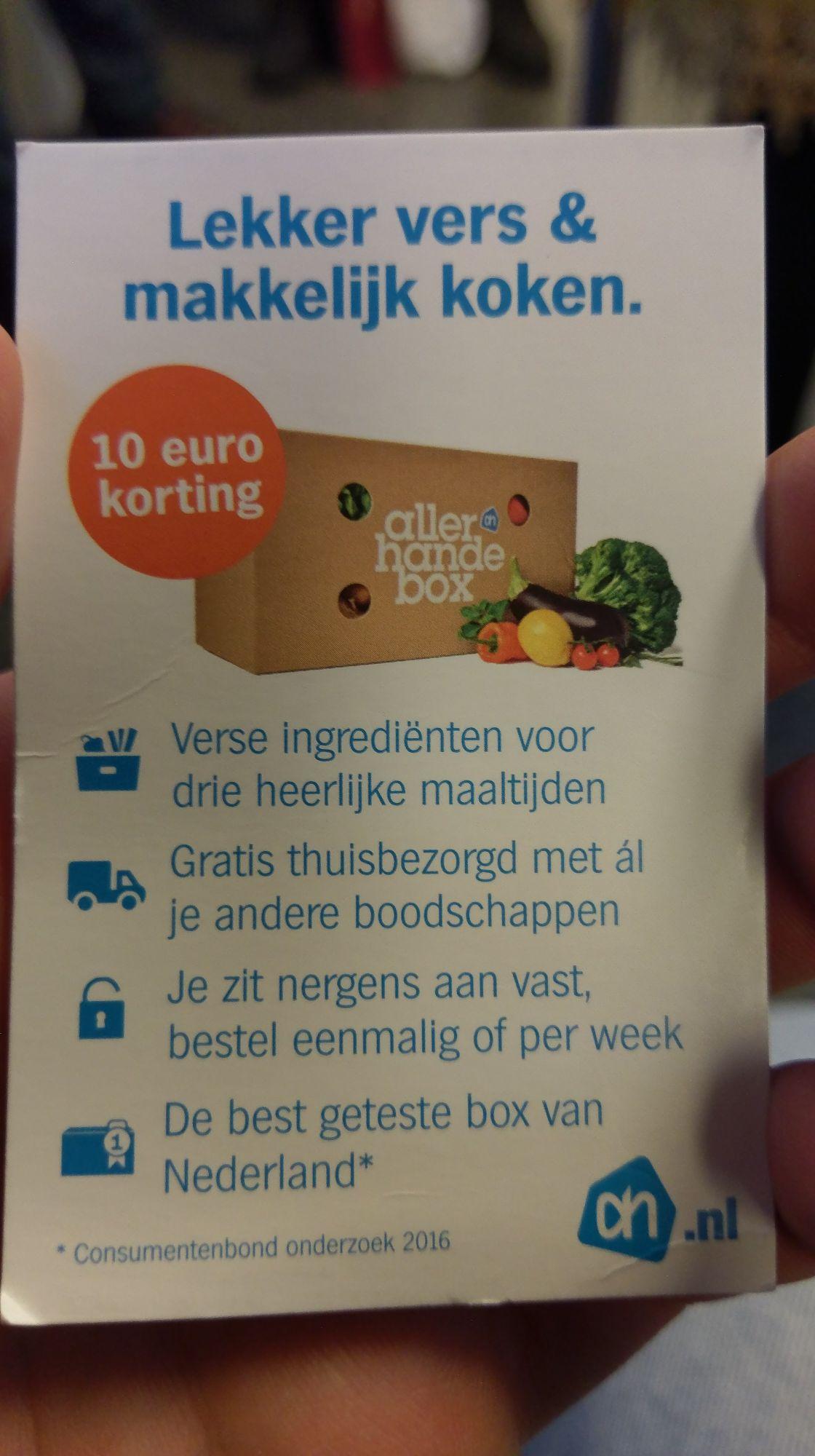 €10 korting op Allerhande box