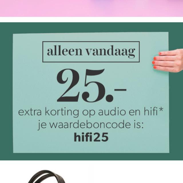 25 euro korting op audio en hifi bij Wehkamp