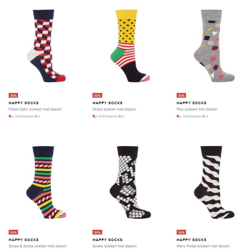 Happy Socks €6 @ De Bijenkorf