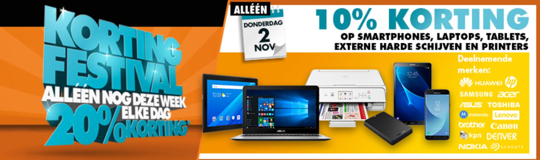 Vandaag 10% korting op smartphones, laptops, tablets, externe harde schijven en printers @ Expert