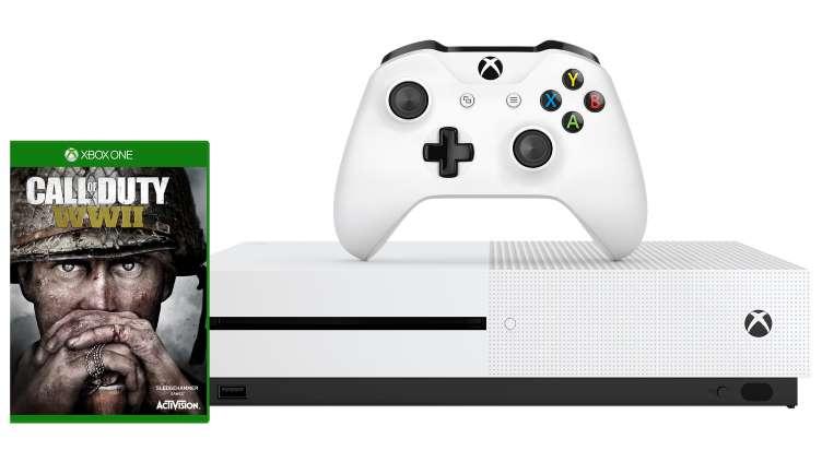 Xbox One S (500GB) Assassin's Creed Origins (of ander spel) bundel + Call of Duty: WW II @ Microsoft.de