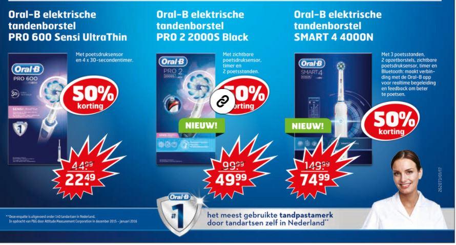 Oral-B SmartSeries 4000 voor €74.99 bij de trekpleister (ook andere oral b tandenborstels met 50% korting)