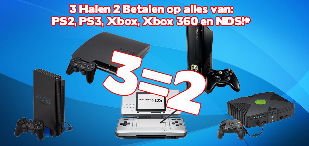 3 halen 2 betalen op bijna alles @ Gameshop Twente