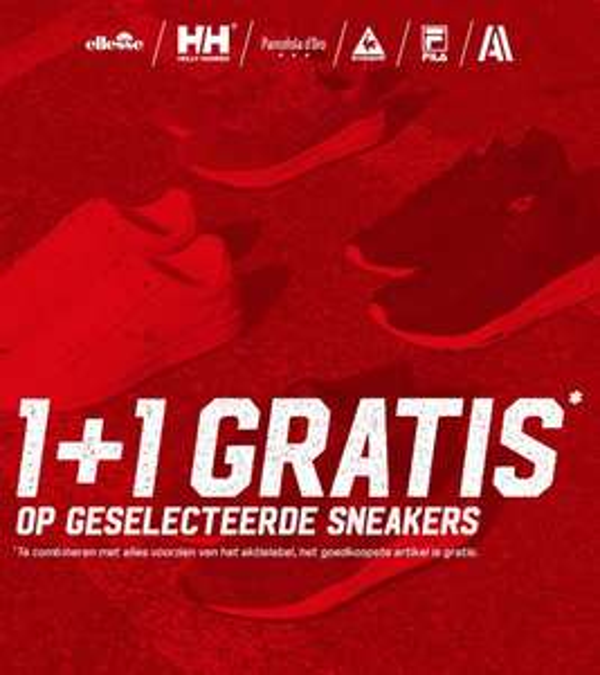 Actie: 1+1 gratis op 175 sneakers @ Actiesport