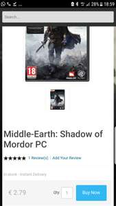 Lage Prijs Shadow of Mordor PC @ CDkeys