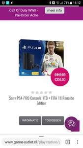 Ps4 pro inclusief fifa18 l, Grand turismo sport of call of duty ww2