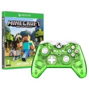 Rock Candy Green Wired Xbox One Controller + Minecraft door kortingscode voor €36,44 @ Zavvi