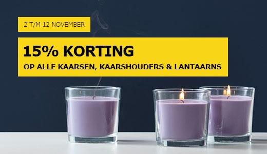 15% korting op kaarsen, kaarshouders en lantaarns @ IKEA