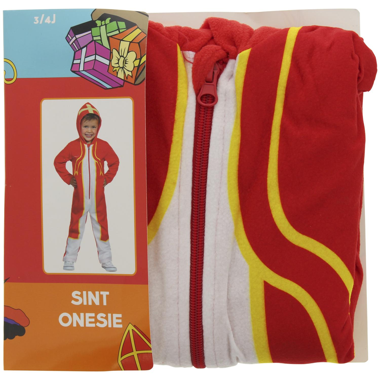 Sinterklaas kinder-onesie voor €4,72  | Pietenpak voor €3,88 @ action