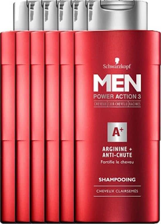 Schwarzkopf Men Arginine shampoo (6x250ml) voor €5,99 @ Bol.com