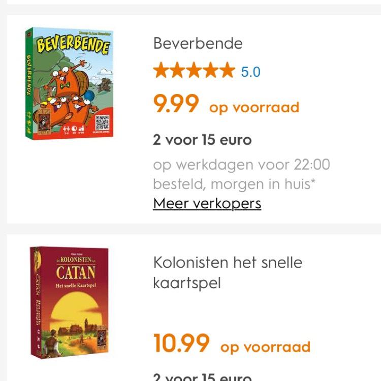 Diverse 999 Games Kaartspellen, 2 voor €15 @ Blokker