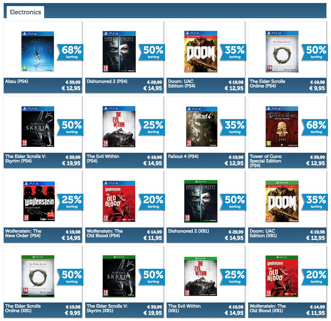 Diverse PS4 en XBOX games aan kleine prijsjes @ iBood